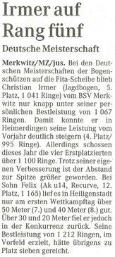 Artikel - Halali 2008 in Halle - BSV Merkwitz
