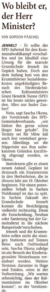 Ostfriesenzeitung 15.09.2021