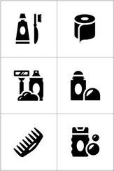 Hygieneset für Frauen, Kinder und Männer.