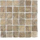 Mosaico Ceramiche Settecento effetto pietra bruno