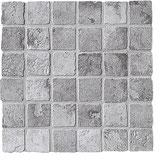 Mosaico Ceramiche Settecento effetto pietra grigio