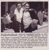 Wuppertaler Rundschau Bericht vom 04.06.2003