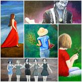 Collage Portraits Menschen