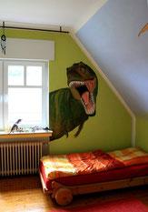Jungenzimmer mit Tyrannosaurus Rex