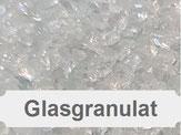 Glasgranulat, Glaskorn, Glasbruch, Glassplitter