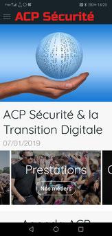 Application android de ACP Sécurité