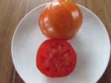 Liguria: Rote, etwas herzförmige Tomate. Bio Gärtnerei Kirnstötter