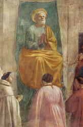 Masaccio: Petrua auf dem Stuhl