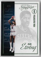 JULIUS ERVING / Signatures Green - No. 242  (#d 4/5)