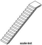 Fabrication escalier sur mesure droit  - Métal Bois Design