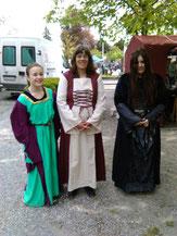 Drei Frauen aus dem Mittelalter