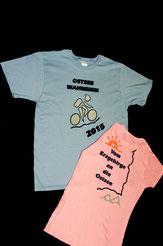 individuelles T-Shirt, Radreise, Sport Shirt, Vereins-Shirt, Damen, Herren, Fahrrad, hellblau, zartrosa, Urlaub, T-Shirt, Shirt individuell  gestalten, Damen, Herren, Flexdruck, Flockdruck, T-Shirt bedrucken, Vereinskleidung, Arbeitskleidung