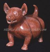 старинная глиняная фигурка бесшерстной собачки