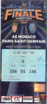 Ticket  Monaco-PSG  2016-17