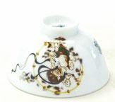 九谷焼飯碗 風神雷神