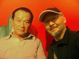 岡本太郎とab-絵本塾塾長のツーショットの画像