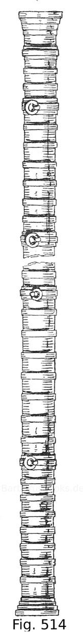 Fig. 514. Lotbüchse (Schiffsschlange) aus geschmiedetem Eisen, 15. Jahrhundert. K. u. k. Heeresmuseum in Wien.