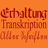 Erhaltung Transkription Alter Schriften