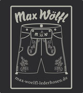 Logo der Firma Max Wölfl; Handgemachte Lederhose