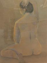 裸婦 パステル30号