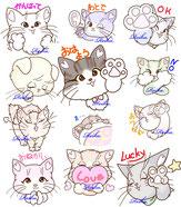 LINEスタンプ イラスト『アニメ猫ちゃん』
