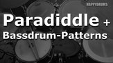 Single Paradiddle mit Bassdrum-Variationen