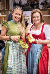 Wiener Wiesn-Fest Geschäftsführerin Claudia Wiesner mit Julia Mayer