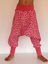 Haremshose Pumphose Cord rosa mit Sternen - designed by Lumpenprinzessin