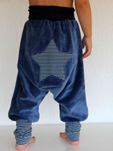 Haremshose Pumphose Nicky blau mit Stern - designed by Lumpenprinzessin