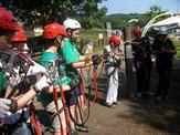 Klasse 6 im Klettergarten Wippra