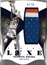 PATRICK EWING / Jumbo Patch - No. 98  (#d 1/20)