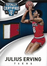 JULIUS ERVING / 2clr Patch - No. 45  (#d 9/10)