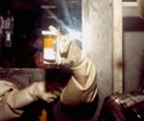 Huile de  pompe usée comprenant du Pu solidifiée par le polymère N990 en cellule HA