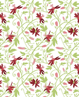 repetitive pattern: red markisa on white background