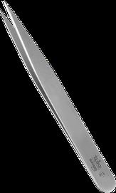 пинцет линейки TopInox , острые края, 11 см