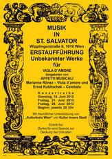 Neuentdeckung Unbekannte Werke Kubitschek Ronez Kulturkreis Wien 1700 St. Salvator Altes Rathaus