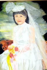 朝子さんが描いた花嫁の自画像