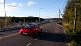 Roter Porsche 911 Highway Sparplan