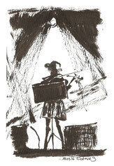 concert de The Heartland of James Pete James, dessin, cours, Rocher Palmer, Cenon