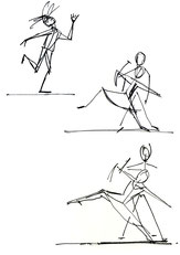 atelier cours de croquis, dessin, Office Culturel Palmer, Cenon. Mois de la danse, danseurs