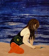 2016 Mädchen am Strand