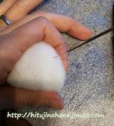 羊毛フェルト はじめて おにぎりの作り方