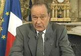 Président Chirac présentant la fin du service militaire