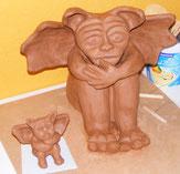Gargoyle Keramik Figur Unikat