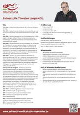 Vita Dr. Thorsten Lange M.Sc., Zahnarzt in Rosenheim