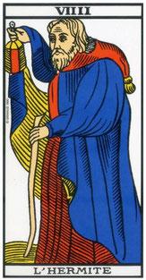 Tarot de Marseilles, L'hermite symbole de Saturne
