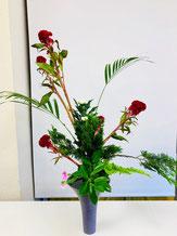 2018年7月1日 お稽古花「立花」