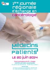 Journée Régionale échanges Cancérologie Centre Antoine Lacassagne Nice Sylvette Mercier de Lepinay Relais LMC France Nice représente leucemie myeloide chronique cml leukemia