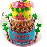 Pasteleria creativa, Debuenamañana, Tartas fondant personalizadas, tarta primer año, cumpleaños, tarta princesas,  de buena mañana, tartas fondant en Gandia, tartas fondant en Valencia