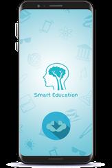 Logo von Smart Education auf einem Samsung S9 abgebildet